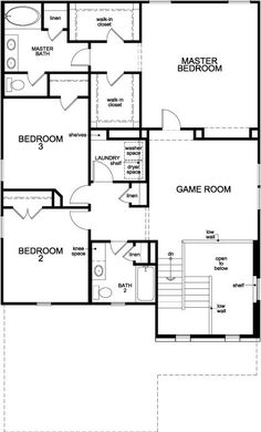 New Homes in Conroe, TX - Plan 2686, Second Floor