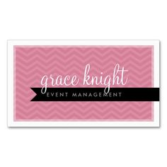 CORPORATE modern simple chevron rose pink Business Cards