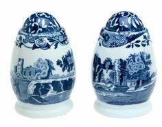 Spode Blue Italian Salt and Pepper Shakers by Royal Worcester. $39.38. As Seen on Downton Abbey. Highest Quality Earthenware Body. Dishwasher and Microwave Safe. Salt and Peppers measure 3.0-inch in height each. Amazon.com                Continuously produced in England since 1816, the Blue Italian pattern from Spode will easily find a home on a casual or more formal table. Utilizing an underglaze printing process created by Josiah Spode and still employed today, varyi...