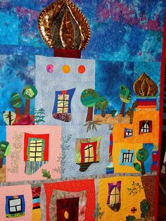 Hundertwasser - My daughter just copied this picture: Wonderful! Arte Latina, Friedensreich Hundertwasser, Pop Art, Paintings I Love, Art Plastique, Elementary Art, Art Lessons, Art For Kids, Art Projects
