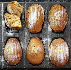 Madeleines - refined sugar free and lemon flavored   drizzld.com