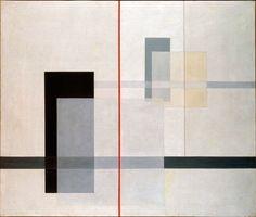 """K VII"" by László Moholy-Nagy (Hungarian), Tate Modern, London - Bauhaus School Bauhaus Art, Bauhaus Painting, Bauhaus Design, Laszlo Moholy Nagy, Josef Albers, Anni Albers, Illustration Art, Illustrations, Art Uk"