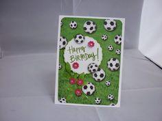 Basteloase Creasu: Geburtstagskarte für einen Fußball Fan Heute stell...