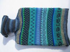 Wärmflaschen - Wärmflasche mit buntem Bezug Miko - ein Designerstück von Lotta_888 bei DaWanda