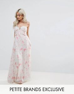 Order Boohoo Petite Floral Bandeau Maxi Dress online today at ASOS for fast delivery, multiple payment options and hassle-free returns (Ts&Cs apply). Get the latest trends with ASOS. Bridesmaid Dresses Floral Print, Floral Evening Dresses, Formal Dresses, Asos, Boohoo Petite, Boutique Dresses, Fashion Online, Strapless Dress, Fashion Dresses