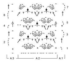 "Blue Tide - Crochet DROPS cloths with fan pattern and stripes in ""Paris"". - Free pattern by DROPS Design"