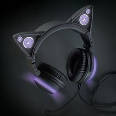 Cat Ear Headphones (63 CAD) ❤ liked on Polyvore featuring accessories, tech accessories and cat ear headphones