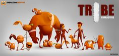 The TRIBES | Client: Animation Mentor on Behance ★ Find more at http://www.pinterest.com/competing/