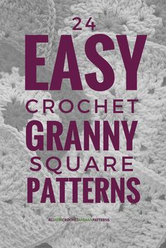 There are several varieties of the granny square, and all of these patterns looks pretty easy to do. Great for scrap yarn too.