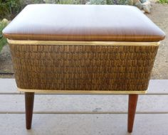 Vintage sewing box storage stand Burlington mid by ClassicCrow, $85.00