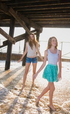 Tween fashion.  Cute teen fashion: White t-shirt (wife beater/ Gap) and Gap sequin skirt.  Older teen fashion: Jean shorts and vintage beaded, sequin top.  California chic tween fashion (larsen sister models)