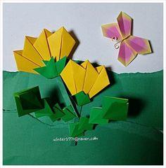 봄이야기~ 민들레와 나비 종이접기 : 네이버 블로그