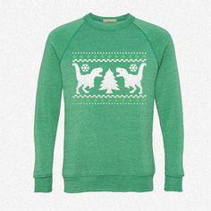 Funny Ugly Christmas T-Rex Sweater fleece crewneck sweatshirt
