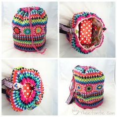 Idea - Crochet bag (Theetante San) ♡ Teresa Restegui http://www.pinterest.com/teretegui/ ♡