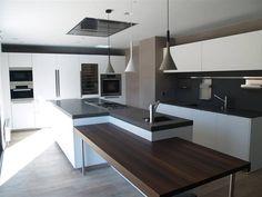 minimalist modern kitchen white bright clean island
