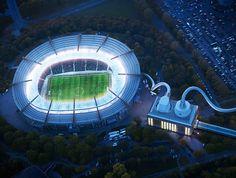 "Plugged Statoil, an energy company ""Stadium""..."