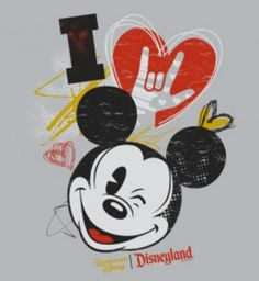 American Sign Language (ASL) 'I Love Mickey' Tee Shirt Coming to the Downtown Disney District Walt Disney, Downtown Disney, Disney Fun, Disney Magic, Disney Pixar, Disney Characters, Mickey Mouse And Friends, Mickey Minnie Mouse, Mickey Love