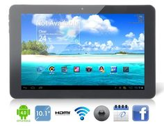 """This 10.1"""" capacitive 10-point IPS touch screen tablet PC supports Android 4.0.4 operating system. And you can surf the internet freely with the Wi-Fi function. #CUBEU30GT #androidtabletPC"""