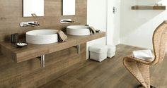 Baldosa de gres porcelánico imitación madera de pared para baño - PAR-KER® - Porcelanosa