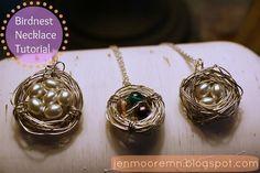 Diy Necklaces  : {DIY} Bird Nest Necklace Tutorial