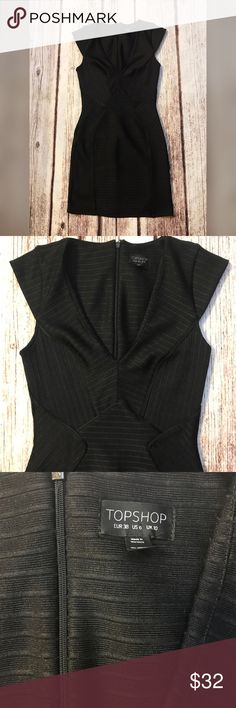Topshop sexy black bandage dress Sexy little black dress in euc size small      FYI 📌📌📌📌📌 Things to keep in mind when shopping my closet  ✔️  all item come from a smoke free pet free clean home ✔️ all items shipped same day or next day unless its Friday orders will go out Monday  ✔️ open to offers I do not use the private offer system  ✔️ discounts on bundles  ✔️posh ambassador Topshop Dresses Mini