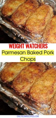Parmesan Baked Pork Chops // #weightwatchersrecipes #smartpointsrecipes #WeightWatchers #weight_watchers #Healthy #Skinny_food #recipes #smartpoints Oven Pork Chops, Parmesan Pork Chops, Baked Pork Chops, Quick Pork Chop Recipes, Pork Recipes, Oven Recipes, Ww Recipes, Dinner Recipes, Healthy Recipes