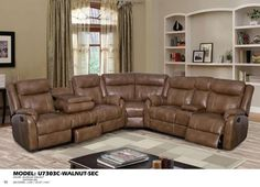 Global Furniture Sectional Blanche Walnut (Dtp672 29)