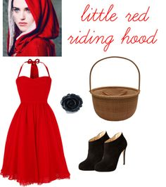 little red riding hood costume (with morrgana from merlin in the corner!)