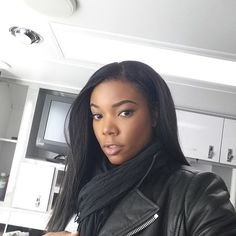 Pin for Later: This Week's Cutest Celebrity Candids  Gabrielle Union celebrated a great day at work with a selfie.