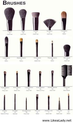 Correct use for makeup brushes