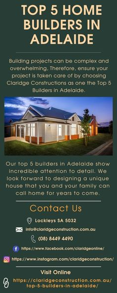 Best Home Builders, Hamptons Style Homes, The Hamptons, Builders Adelaide, Beautiful Homes, Linear Park, Construction Process, The Incredibles, Build Your Dream Home