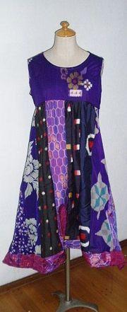 ご覧頂ありがとうございます(*^▽^*)。アンテックの着物から作ってます。 色々な銘仙をパッチしたチュニックワンピースをつくりました。紫、黒など渋い色合いの銘...|ハンドメイド、手作り、手仕事品の通販・販売・購入ならCreema。