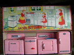 Little Miss Kitchen - Stove,  Washer, Sink & Refrigerator #