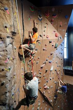 Rock-climbing birthday parties and with his Dad. Climbing Wall 2db9f598326
