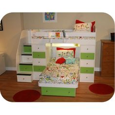 """Awesome """"bunk beds for kids room"""" detail is offered on our web pages. Bunk Bed With Stairs And Storage, Cool Bunk Beds, Kids Bunk Beds, Loft Beds, Siblings Sharing Bedroom, L Shaped Bunk Beds, Twin Trundle Bed, Wooden Bunk Beds, Bunk Bed Plans"""