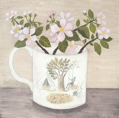 'Ravilious cup and apple blossom' Debbie George www.debbiegeorge.co.uk