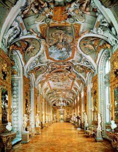 Galleria degli Specchi, Palazzo Doria Pamphilj, Rome, Italy (Hall of Mirrors) #Baroque