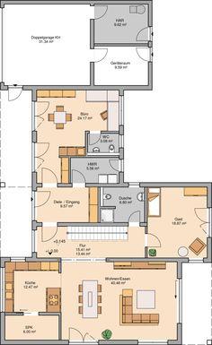 Kern-Haus Bauhaus Ixeo Grundriss Erdgeschoss
