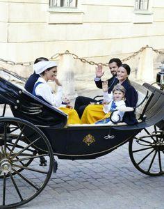 Prince Daniel, CP Victoria, Prince Carl Philip, Sofia Hellqvist and Princess Estelle