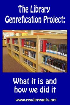 You searched for label/Library Genrefication Project - Mrs. Library Skills, Library Lessons, Library Books, Library Ideas, Library Posters, Library Themes, Library Inspiration, School Library Displays, Middle School Libraries