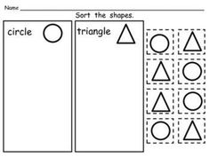 FREEBIE!! Shape Sorting Pages!!