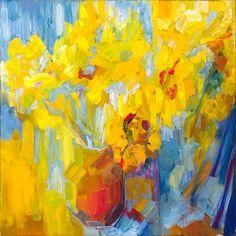 ❀ Blooming Brushwork ❀ - garden and still life flower paintings - Sonnet 18: Thy eternal summer by Lena Levin