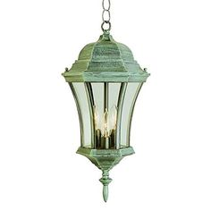 Trans Globe Lighting 4505 VG Outdoor 3 Light Verde Green Outdoor Hanger RMG4H4E54 E4R46T32584193 >>> To view further for this item, visit the image link.(This is an Amazon affiliate link and I receive a commission for the sales)