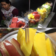Thai fruit cart are our favorite. #thailand #fruit