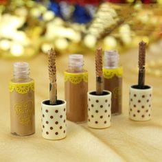 Sobrancelha cor Gel Tame Mascara de ouro Natural Brown brilho brilho amostra 1 pcs alishoppbrasil