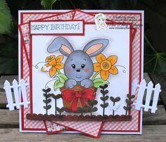 Pop over to Chrissy's blog to see how she created this adorable card using Flower Pot Bunny! Here's the link http://chrissyscardland.blogspot.ca/…/a-bunny-in-flower-pot… Thanks Chrissy. Flower Pot Bunny is here http://www.missdaisystamps.com/product/flower-pot-bunny Happy Stamping! Love, Miss Daisy