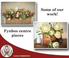 Here are just a few of the floral arrangements we have had the privilege of producing for clients. Place your order and we can have them delivered anywhere in South Africa. Centre Pieces, Floral Arrangements, South Africa, Table Decorations, Canning, Flowers, Products, Centerpieces, Center Pieces