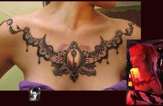 Amazing  chest tattoo