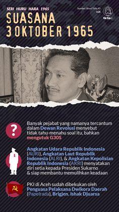 Beberapa pejabat menyangkal soal keterlibatannya dalam Dewan Revolusi dan tetap berdiri di belakang Presiden Sukarno. Law Study, Life Problems, History Facts, Did You Know, Infographics, Fun Facts, Arch, Presentation, Knowledge