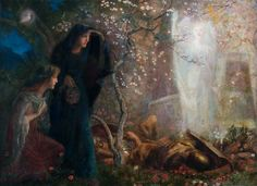 Arthur Hughes (Pre-Raphaelite, 1832-1915), He is risen